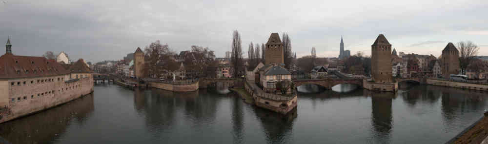 Le barrage Vauban dans le quartier Petite France de Strasbourg