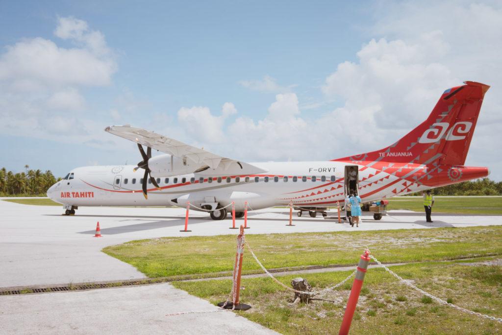 Un avion d'Air Tahiti, décoré pour le 60ème anniversaire de la compagnie en 2018